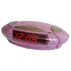 LED COSMO Réveil numérique - rose