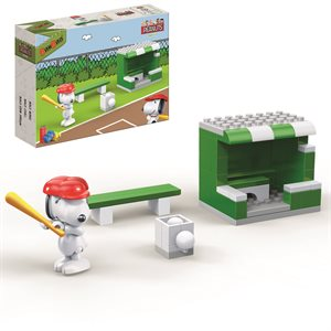 Peanuts Snoopy baseball + dugout 48pieces