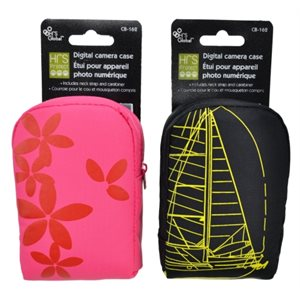 Digital camera case; 2 assorted designs