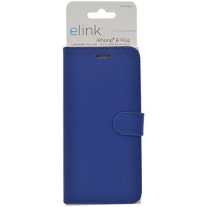 Etui en similicuir pour iphone6 plus bleu