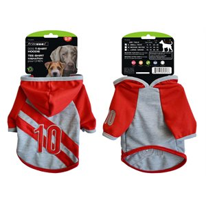 Dog T-shirt with hood, Small