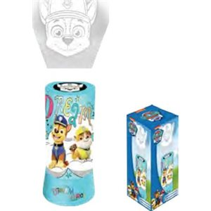 Paw Patrol LED cylindrical projector table lamp