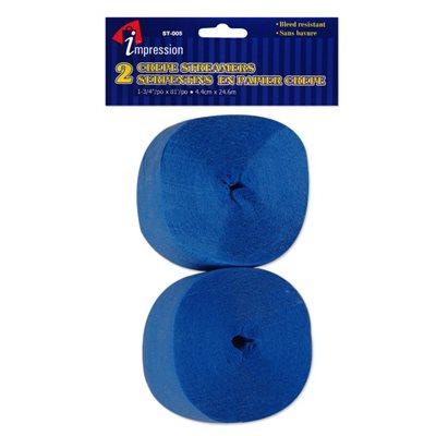Serpentins ; Bleu ; 4.4cmx24.6m ; emballage de 2